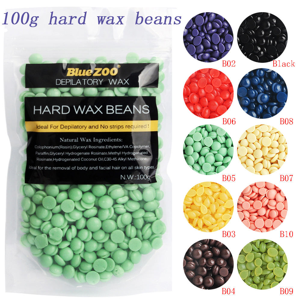 100G No Strip Depilatory Hot Film Hard Wax Pellet Waxing Bikini Hair Removal Bean Dropship