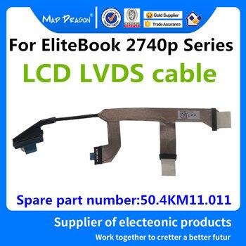 El dragón loco marca portátil Original Nuevo LCD LVDS cable para HP EliteBook 2740p serie de cables LCD Cable 50.4KM11.011