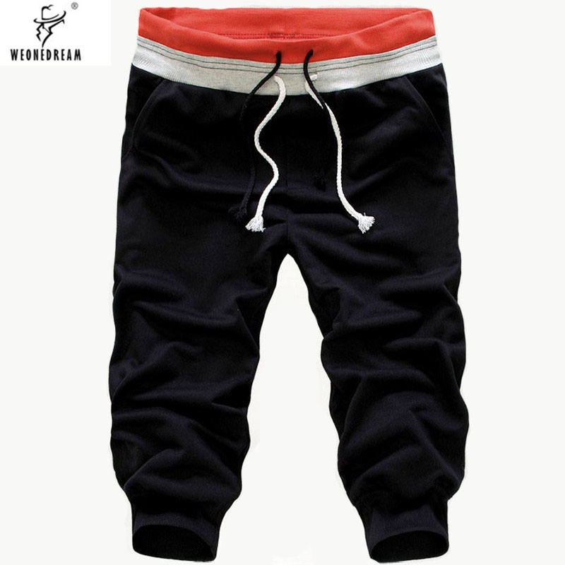 WEONEDREAM Mens Pants Joggers Loose Casual Calf-Length Breathable