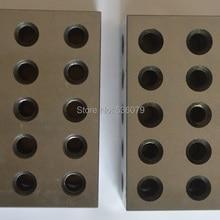 23 Отверстия прецизионные 25-50-75 мм блоки, 1 пара(2 шт), набор параллельных зажимных блоков, стальной блок, 5 шт M10 резьбовых отверстий
