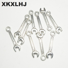 XKXLHJ 20pcs Charms wrench tool 24*6mm Tibetan Silver Plated Pendants Antique Jewelry Making DIY Handmade Craft