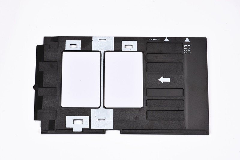 Office Electronics Printer Parts Pvc Id Card Tray Plastic Card Printing Tray For Epson R260 R265 R270 R280 R290 R380 R390 Rx680 T50 T60 A50 P50 L800 L801 R330 High Safety