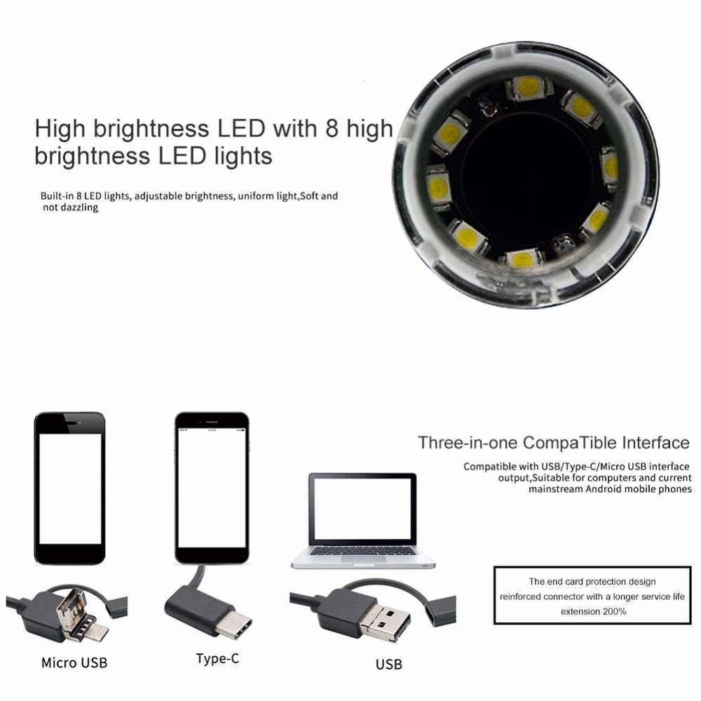 Горячая Продажа 500X/1000X/1600X8 светодиодный цифровой USB микроскоп материнская плата ремонт Лупа электронный стерео USB эндоскоп камера