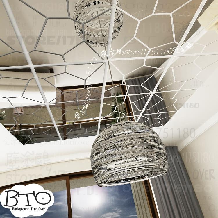 DIY varios colores de moda creativa primavera naturaleza círculo flor 3D TV pared adhesivo espejo pared calcomanía R017 - 4