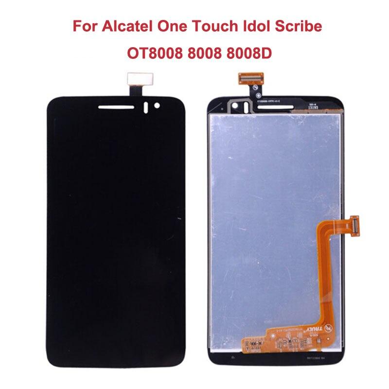 Pour Alcatel One Touch Idol Scribe OT8008 8008 8008D LCD Display + 5.5 Écran Tactile D'origine Digitizer Assemblée Remplacement