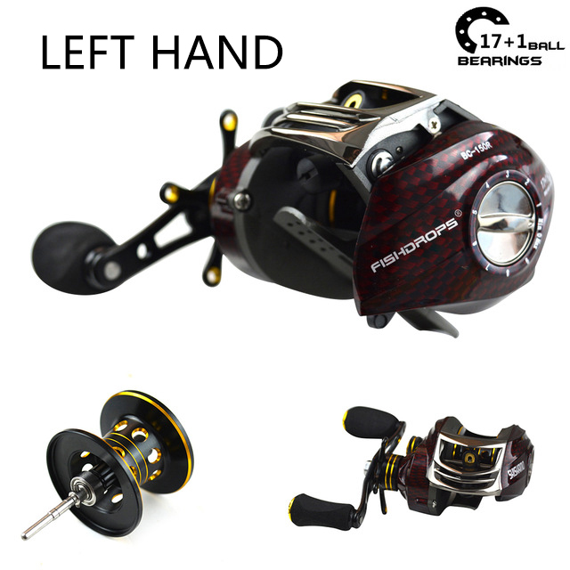 Shishamo 17+1BB 6.3:1 low profile reel casting Fishing reel baitcasting Fishing reels (left hand)(China)