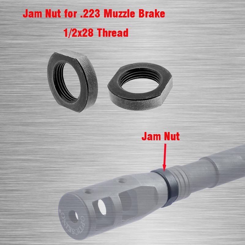 2Pcs Muzzle Brake Lock/Jam Nut 1/2x28, Designed For Repeated Use Armorer's Wrench AR-15 Ruger 10/22 Muzzle Brake Jam Nut