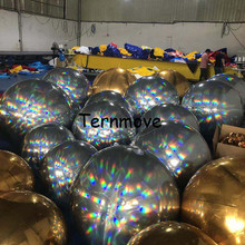 7657f895 Rainbow silver Color Mirror Christmas Ball Disco Mirror Ball Light Mirror  Reflection Stage Festival Hanging pvc