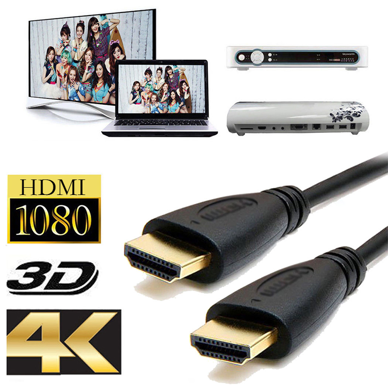 HDMI Cable HDMI to HDMI Cable 1.4V 1080P Male to Male 3D High Speed HDMI Adapter for Apple TV xbox computer