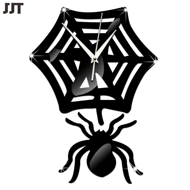 2016 Living Room Decorative Simple Wall Sticker DIY Spider Wall Stickers Watch Home Decor Free Shipping JT6083