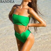 BANDEA Bikini Set 2018 Summer Swimwear Biquini Women Sexy Beach Swimsuit Bathing Suit Push up High waist Bikini Maillot De Bain