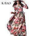 2016 Vestido Maxi Delgado de Alta Calidad de Las Mujeres de Manga Larga Con Lentejuelas Rebordear Rose Floral Bird Impreso Vestido Largo Con La Bufanda