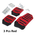 3x Non Slip Car Manual Transmission Red Pedal Cover Brake Clutch Accelerator