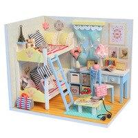 3D 아이 나무 조립 DIY 인형 집 장난감 Miniatura 인형 집