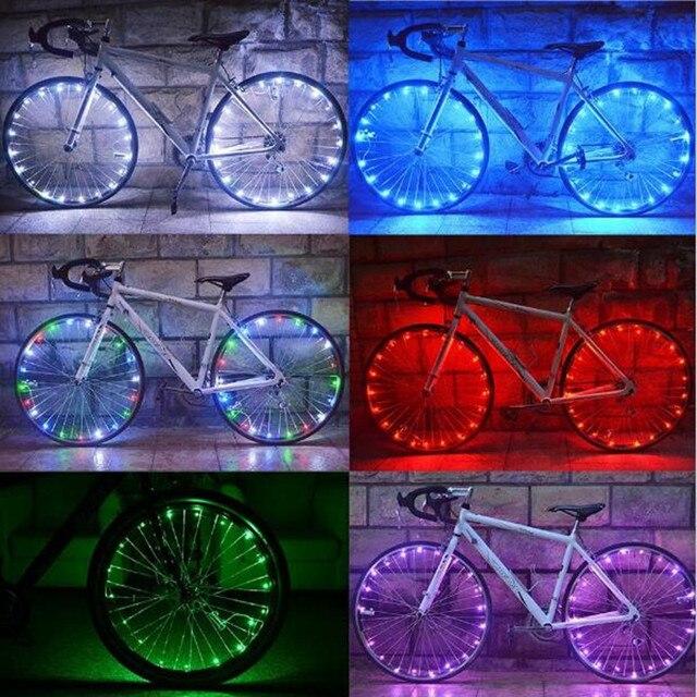 20 LED Велосипед Спиц Велоспорт Водонепроницаемый ABS Шин Шин Колес Яркий Фонарик 6 Цветов для MTB Дорожный Велосипед