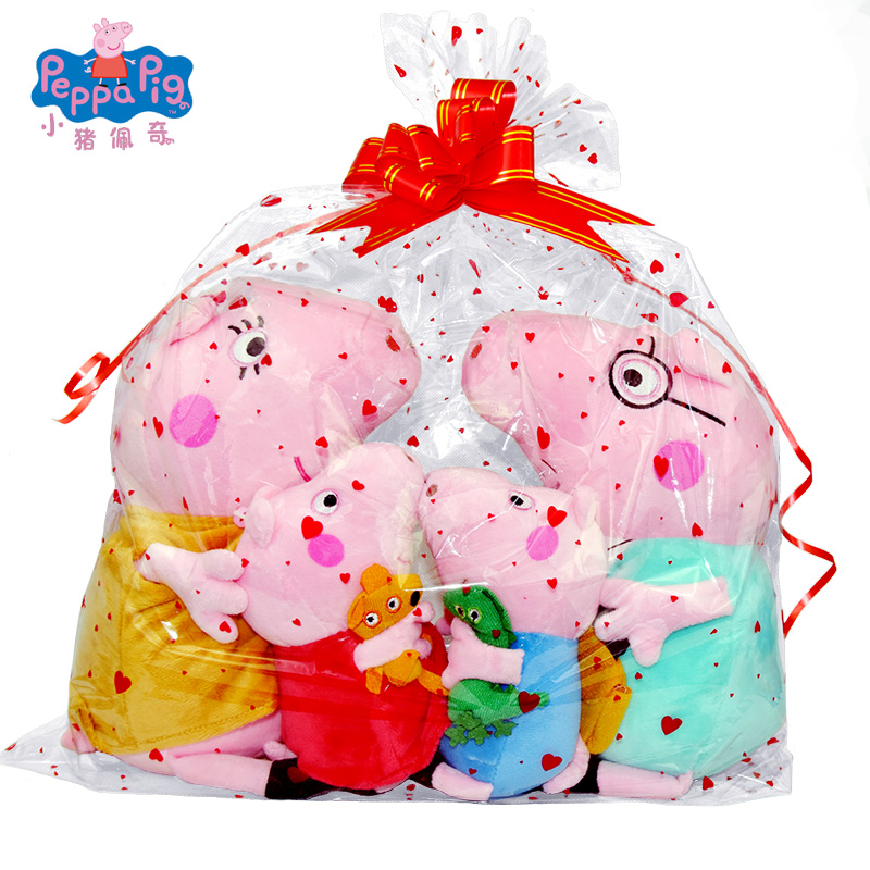New Sale Genuine Peppa Pig 30 CM Pink Pig Plush Anime Toy Soft Stuffed Cartoon Animal Doll For Children's Best Gifts