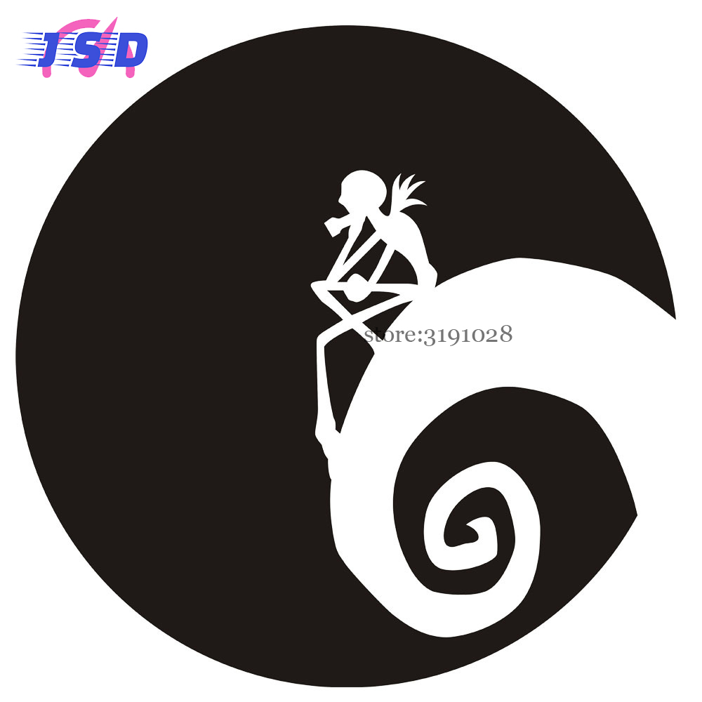 12.7x12.7CM Car Stickers Decoration For Nightmare Before Christmas ...