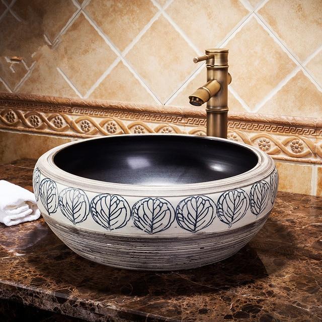 Neue Design Europa Vintage Style Art Waschbecken Keramik