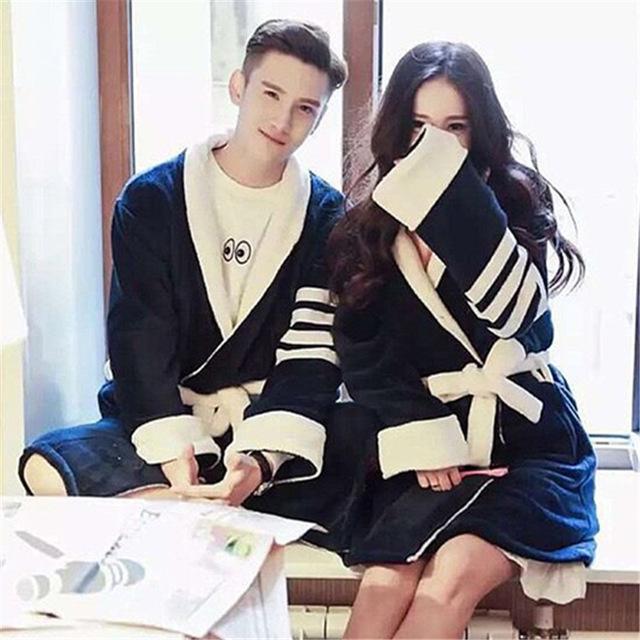 Roupão Vestes Quimono de Algodão Ms 2016 Nova Moda De Outono venda No Outono E Inverno De Amantes Roupão Coral Grande metros