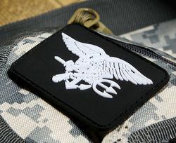 Eua marinha selo equipe 6 trident logotipo remendo 3d pvc tático emblema de borracha do exército remendo emblema