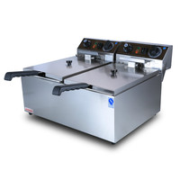 Electric Deep Fryers Commercial Electric Deep Frying Pan Machine Oil French Fries Chicken Platoon