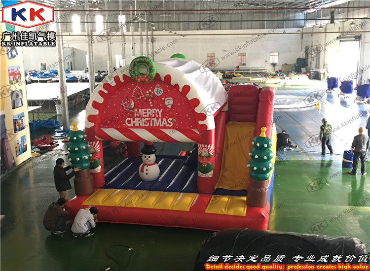 Inflatable Santa Bouncy Slide Combo for Christmas Decoration Christmas Jumping Bouncer ...