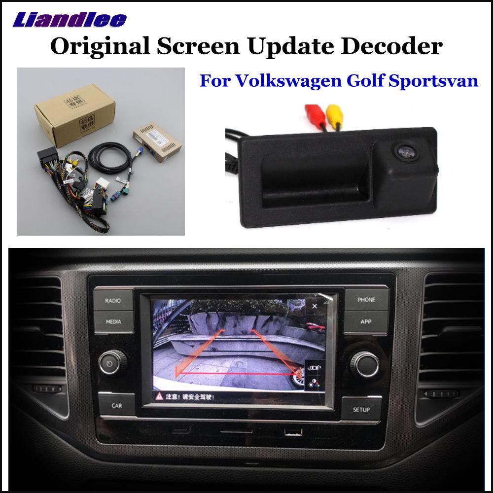 US $150 34 45% OFF|Liandlee For Volkswagen VW Golf Sportsvan Original  Display Update System Car Reverse Parking Camera Digital Decoder Rear  camera-in