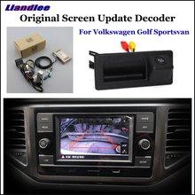 Liandlee For Volkswagen VW Golf Sportsvan Original Display Update System Car Reverse Parking Camera Digital Decoder Rear camera