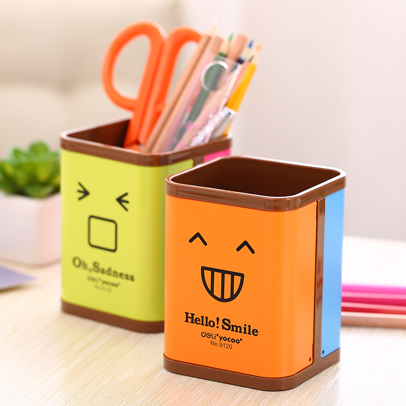 Deli 9120 creative pen holder rotating mood mood are lovely color pen 9120 r