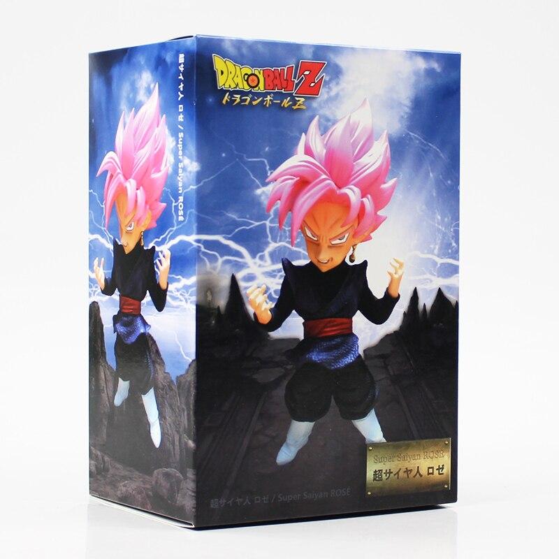 20cm Dragon Ball Z DBZ Rose Black Pink Hair Son Goku Super Saiyan Figurine Toy PVC Action Figure Model Collection Doll Gift figurine