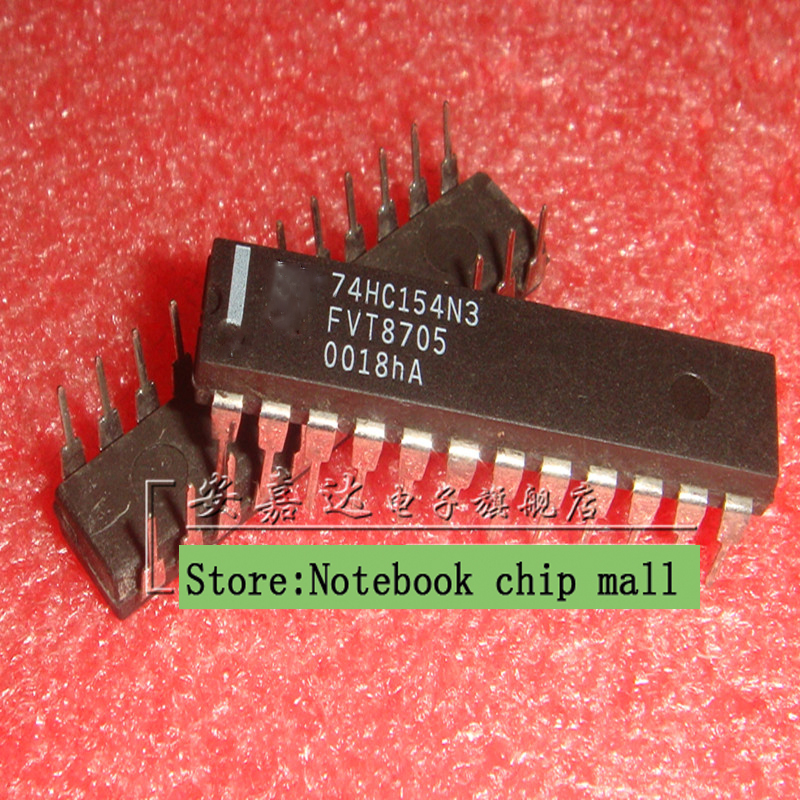 Free shipping 10pcs/lot <font><b>74HC154</b></font> 74HC154N3 MM74HC154N DIP24 high speed CMOS devices Authentic Original image
