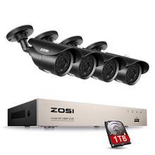 ZOSI 4CH CCTV системы 1080 p DVR 4 шт. 2.0MP ИК защита от атмосферных воздействий товары теле и видеонаблюдения охранных камера комплект