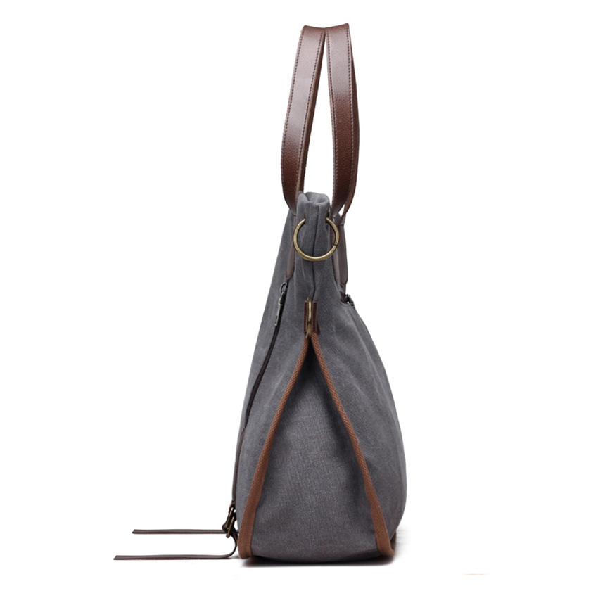 2017 moda grande bolsa para Material : Women Canvas And High Quality PU Leather Bags
