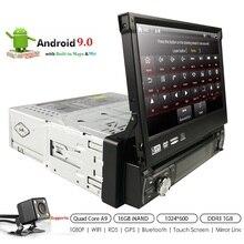 """Android 9 1 din lecteur dvd de voiture Auto Radio GPS Navigation 7 """"1024*600 universel Wifi Bluetooth USB RDS stéréo lecteur multimédia 4G"""