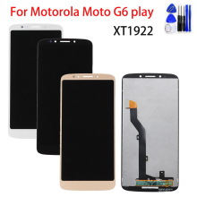 купить 5.7 Original LCD Display For Motorola Moto G6 Play LCD XT1922 Display Touch Screen Digitizer Assembly Replacement Part Tools дешево