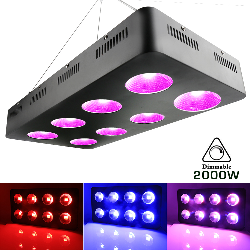 2000W integrated COB Led grow plant light for indoor cultivation grow tent Greenhouse plants & Hydroponic system grow led light tillage system in rice cultivation
