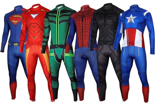 Superhero Sports Wear Captain America Superman Spiderman Iron Man