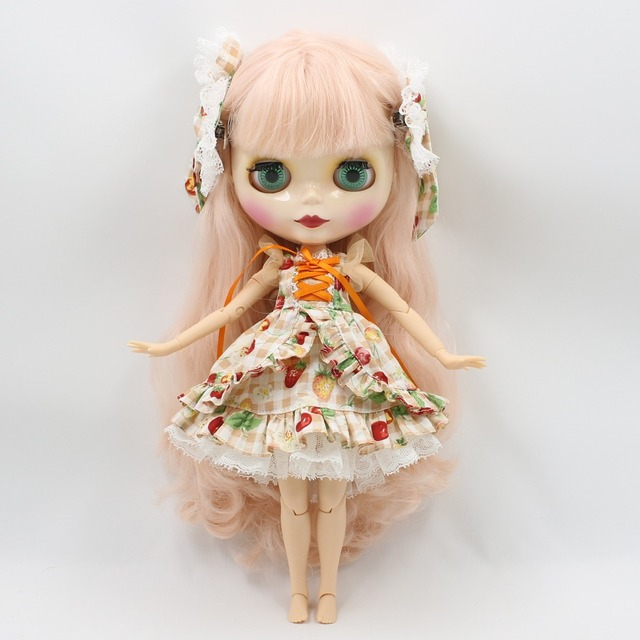 ICY Neo Blythe Doll Pink Wavy Hair Jointed Body