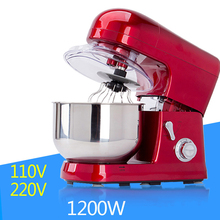 5L Electric Kitchen Food Mixer Stainless Steel Bowl 1200W 6speed Household Egg Whisk Dough Cream Blender Processors