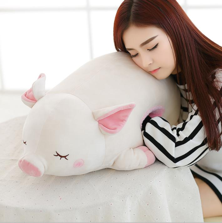 70CM  Cute pig doll sleeping warm hand pillow plug Papa plush toy pig doll birthday gift girl 55cm cute cartoon lilo and stitch warm hand pillow plush toy doll stuffed pillow cushion toys dolls warm hands stitch kids toy