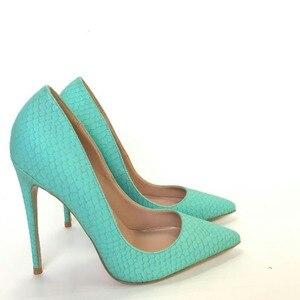 Image 3 - Keshangjia Hot Sales Phụ Nữ Bơm Thiết Kế Thời Trang Cao Gót Giày Cao Chất Lượng Rắn Pattern Phong Cách da Chính Hãng Giày Thường