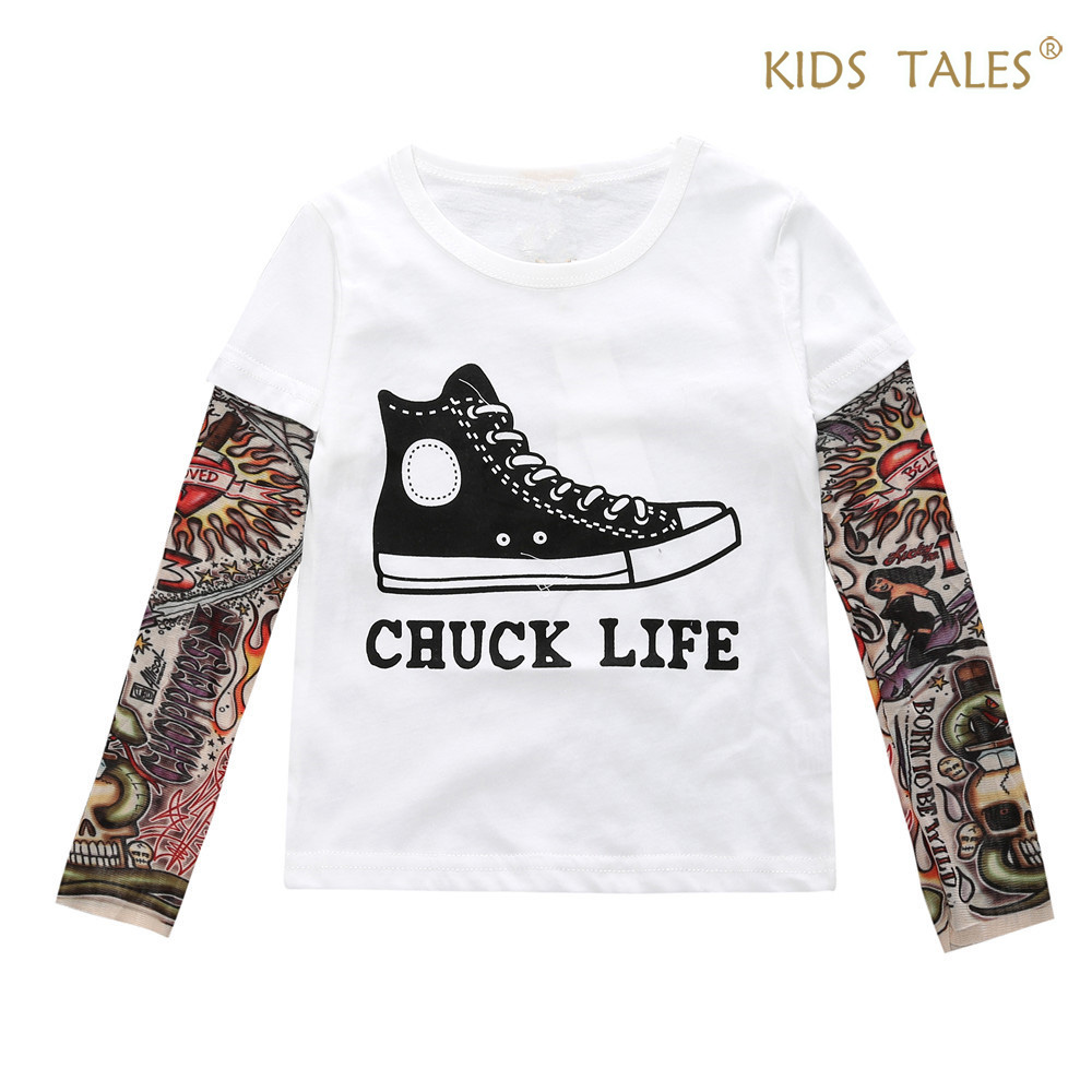Boy tattoo t shirt summer clothing for boys baby clothing Girl t shirts design