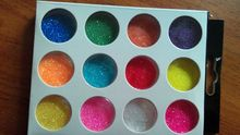 12Jars/ Set Best Quality New 12 Mix Color 3d color nail wraps acrylic glitter powder art, GP04F114