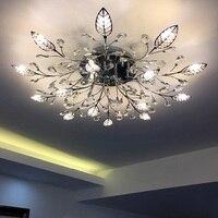 Europejski styl reflektorów Lampy Sufitowe lampy kryształowe salon nowoczesne proste złoty led restauracja kreatywny Amerykańskiej LU823415