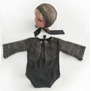 Image 4 - Ylsteed 2Pcs סט אבזרי יילוד תינוקות ירי תלבושות תינוק ילד ילדה תחרה בגדי תינוק אבזרי צילום יילוד מקלחת מתנה