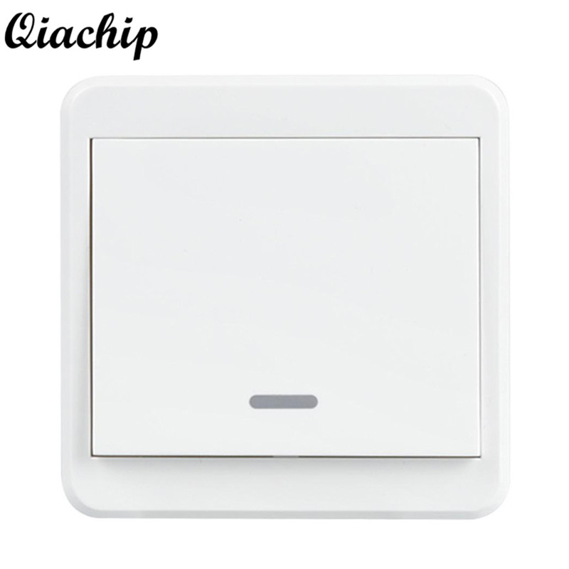 QIACHIP UK Plug AC 220V 1 Gang WiFi Smart Home Switch Light Wall Switch APP Remote Control Control Panel Work With Amazon Alexa qiachip uk plug wifi smart 1 2 3 gang light wall panel switch app control work with amazon alexa google home push button switch