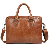 men handbags cow leather 2017 new fashion brand brown business dress casual shoulder bags genuine leather laptop bags female