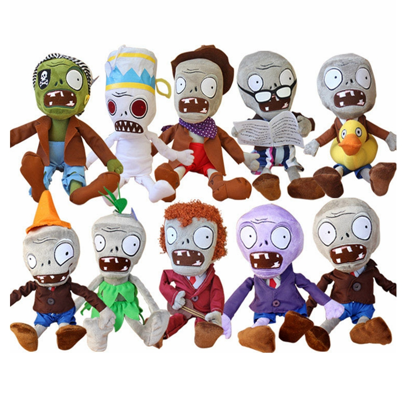1pcs 30CM 12 Plants vs Zombies Soft Plush Toy Doll Baby Toy Gifts Party toys Free shipping