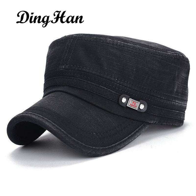 [DingHan] New Snapback Baseball Caps For Men Women Army Flat Top Hat Casquette Outdoor Travel Sun Shading Gorra Plana Adjustable тушь для ресниц make up factory make up factory ma120lwhdr13