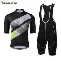 Cycling Jersey WEIMOSTAR Men Bike Jersey Summer SportsWear Clothing T shirt Cycling Bib Shorts Gel Padded Suit
